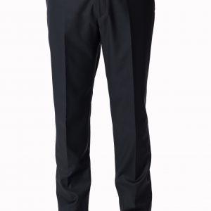 P1645-1 Zuccari Regular Fit Dark Blue Plain Front Formal Trousers