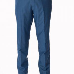 P1645-33A Zuccari Regular Fit Dresden Blue Plain Front Formal Trousers