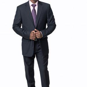 P1770-18 Regular Fit Silhouette Expressions Black Suit.