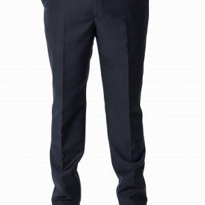P1777-02 Grisoni Regular Fit Navy Blue Plain Front Formal Trousers