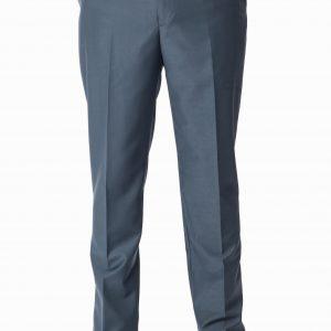 P1777-04 Grisoni Regular Fit Pearl Grey Plain Front Formal Trousers