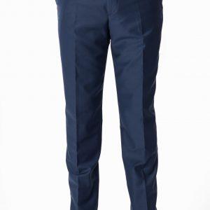 P1777-06 Grisoni Regular Fit Duchess Blue Plain Front Formal Trousers